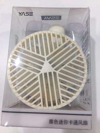 全新 充電式 小風扇 迷你風扇 $40 米白色