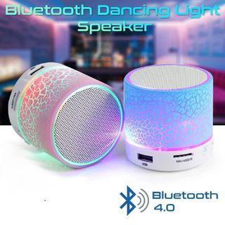 Colorful LED Light Mini Portable Bluetooth Speaker Support USB/ AUX/ TF Card/ FM