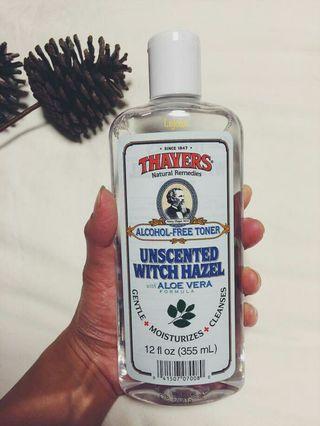 Toner Thayers Toner Unscented Witz Hazel With Aloe Vera