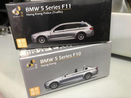 Tiny 微影 會員限定版 BMW 5 Series F10,F11 警察隱影戰車