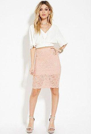 [New] Forever 21 Lace Pencil Skirt