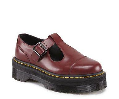 Dr Martens Bethan Shoes in Cherry Red 🍒