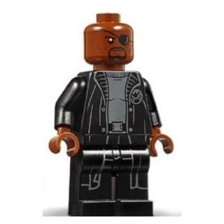 585 LEGO MARVEL Super Heroes Spider Man 76130 Nick Fury - Gray Sweater and Black Trench Coat