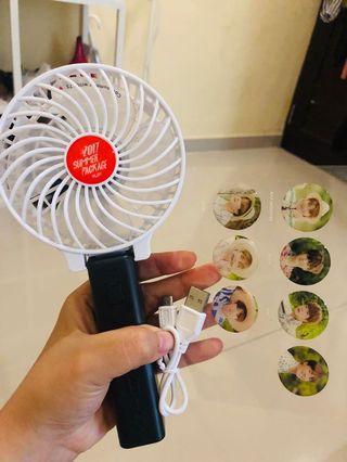 Fan + stiker + carger summer package 2017
