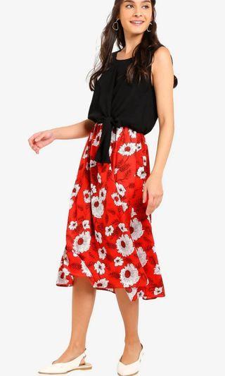 BNIB Zalora Self Tie Floral Dress