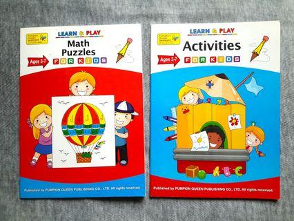 Math & English workbooks for 3 to 7 years old