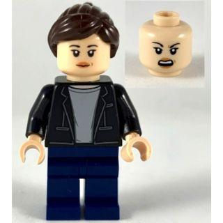 601 LEGO MARVEL Super Heroes 40343 Spider Man Maria Hill - Black Jacket, Light Bluish Gray Shirt, Dark Blue Legs