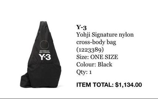 包郵Y3 斜孭袋 Cross body bag連塵袋