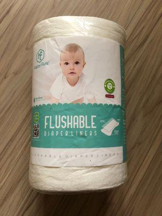 🚚 Happy Flute flushable diaper liners 竹纖維 隔離巾