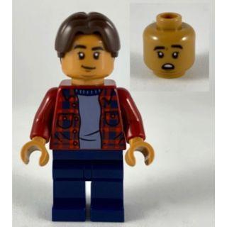 602 LEGO MARVEL Super Heroes 40343 Spider Man Ned Leeds - Dark Red Plaid Shirt, Dark Blue Legs