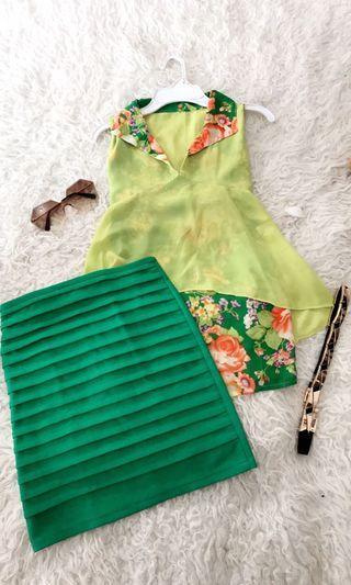 Blouse Set / Top + Skirt