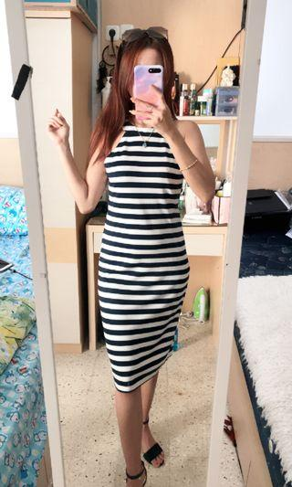 Mididress / Stripe Dress Navy