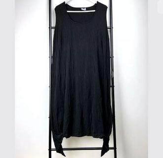 TS Taking Shape sz S/16 black basic dress tunic lagenlook plus size smart casual