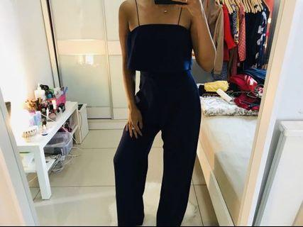 Blue Tube Jumpsuit