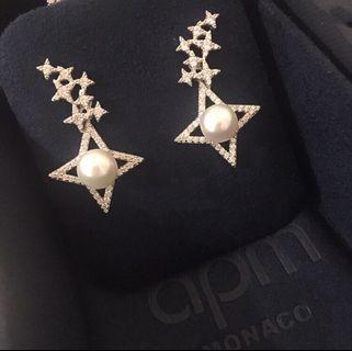 apm MONACO 繁星珍珠耳環