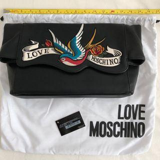 Love Moschino 200% Authentic BRAND new Swallows Tattoo Clutch bag