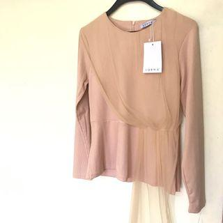 Zalora Lubna top with drape