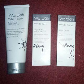 WARDAH White Secret (Day Cream - Night Cream - Facial Wash with AHA)