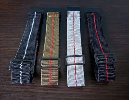Blacked Out Edition! MN strap/NDC strap 22mm suitable for skx, steinhart , diver watches, omega, Rolex, Dan henry, submariner, Seiko, citizen,skx007, skx009,Seiko turtle, Seiko tuna, sea urchin and other models