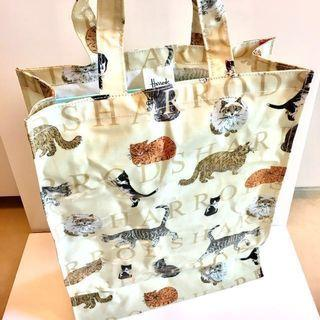 🆕 Harrods Cats Print Shopper Bag