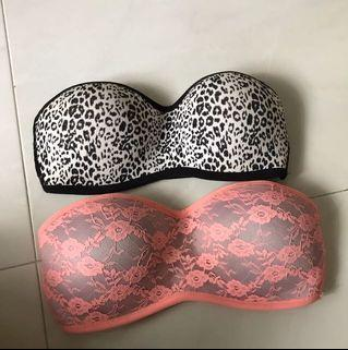 Strapless bra tube