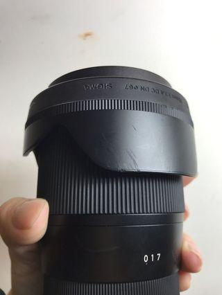 Sigma 16mm f1.4 e-mount for sony