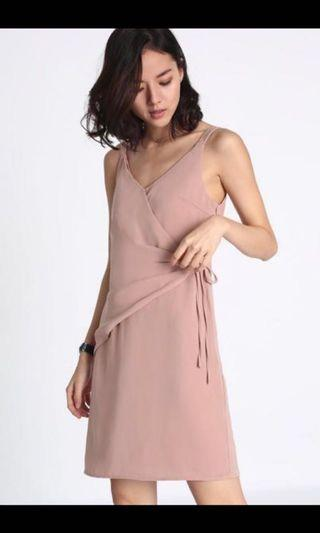 Love bonito keasler ruched wrap dress