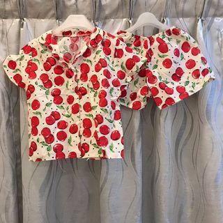CLEARANCE‼️Red Cherry Adult Pyjamas Set Wear