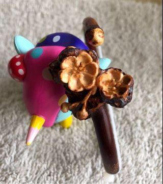 雕刻 雞血藤手鐲 花蝶