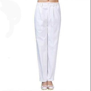 🚚 護士長褲/工作褲/護士服—XL純白款(全新)