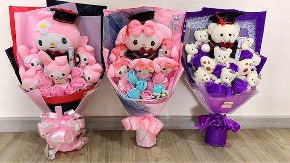 AVAIL!! Graduation Bouquet Soap flowers My Melody or Bear students university convocation ceremony celebration gifts
