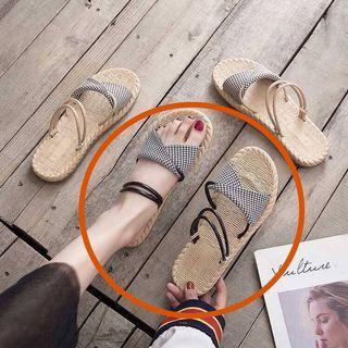 夏季涼鞋 拖鞋 兩穿 兩用 編織