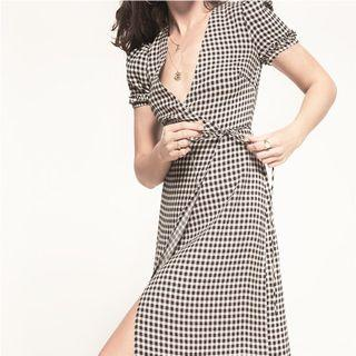 Reformation Addy Checkered Dress