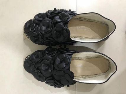 Chanel Camellia Espadrilles Flat sz36