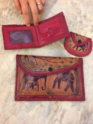 🚚 古董泰國純手工皮包