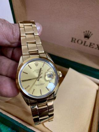 Rolex Perpetual date gold plated 15505