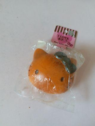 絕版 non-repro Hello kitty head bun squishy