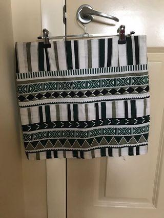 Cute Green Pattern Skirt