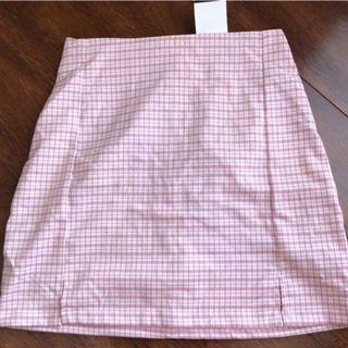 brandy melville pastel pink plaid cara skirt