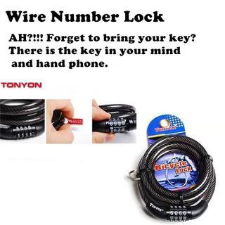 TONYONG bike number lock - Secure your bike with 4 numbers. instock