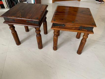 Pair of Wooden Coffee Tables