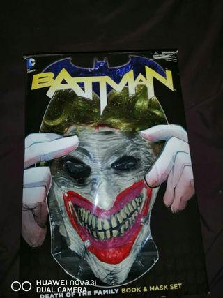 Joker mask and comic