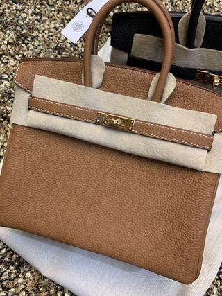 Hermes Birkin 25 Gold Togo leather gold hardware