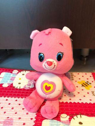 100% New❤️正牌Care Bears 日本彩虹熊 粉紅色 熊啤啤 公仔 未剪牌
