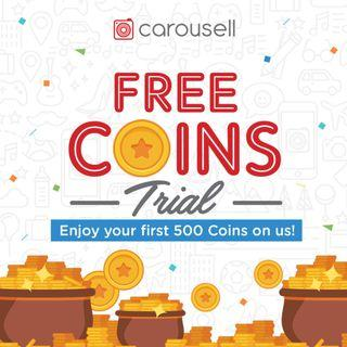 Enjoy your first 500 Coins on us!