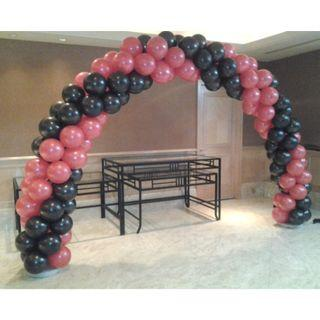 arch balloon  10 ft with red and black theme