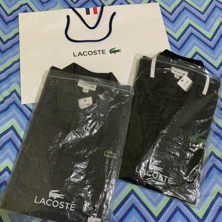 LACOSTE POLO FOR MEN SIZE 6 Php 4,000 each rush rush
