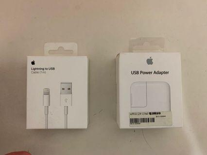 🚚 Apple 原廠盒裝 1m充電線+12w旅充頭