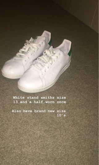 Adidas Stan Smith's size 13 1/2 and 10