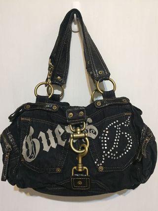 🚚 Q比小舖~GUESS 造型牛仔手提包 側背包